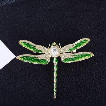2987f041219a Nuevo 3A Zirconia cúbica de Broach broche de Pin de alta calidad joyería de  las mujeres de vestido bolso accesorios XR04061