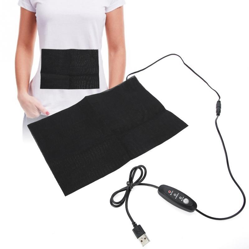 Aquecedor de pano elétrico carregamento usb, almofada de aquecimento para barriga e pescoço, costas, abdômen, lombar, suportes