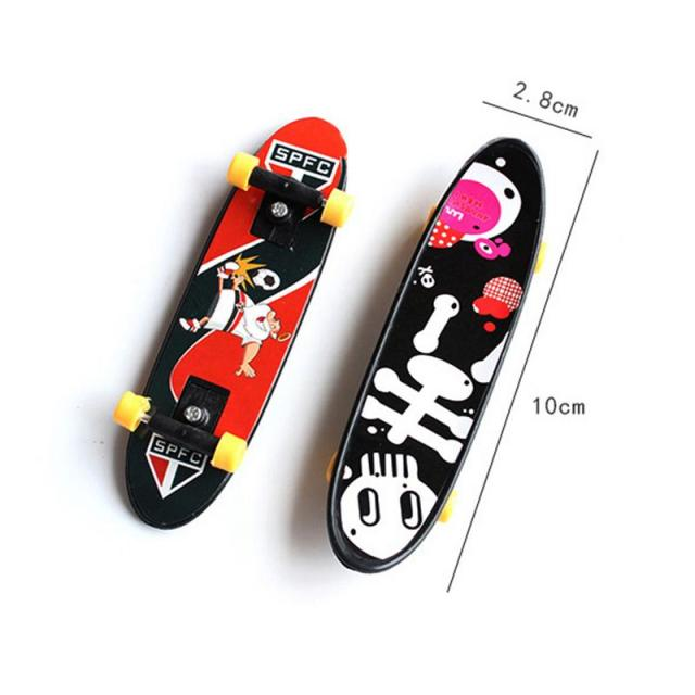 Children's Educational Toys Creative Fingertip Movement Finger board Mini Finger Skateboard Alloy Skate Boarding Toys Random Col
