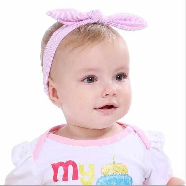 Dziecko z pałąkiem na głowę dziewczyna akcesoria do włosów akcesoria opaski na głowę noworodek nakrycia głowy tiara opaska do włosów niemowlę prezent małe dziecko ucho królika