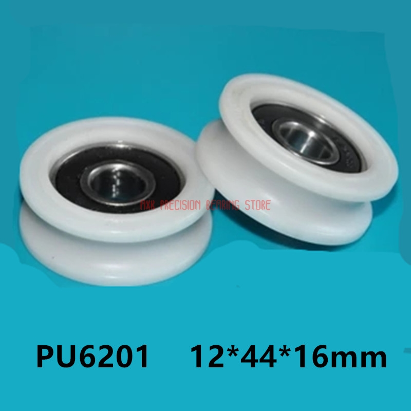 2019 Special Offer Promotion 10 Pcs U Nylon Plastic Embedded 6201 Groove Ball Bearings 12*44*16mm Guide Pulley 12*44*16