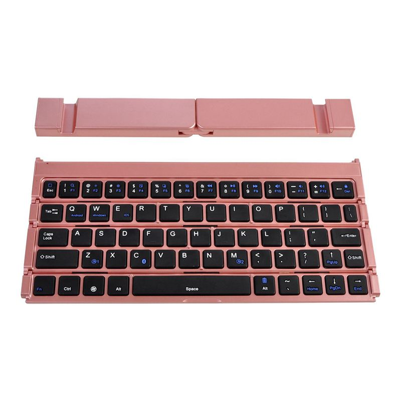 Mini Keyboard Computer Four Fold Bluetooth Keyboard Office Durable Wireless Keyboard Laptop