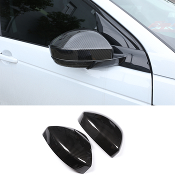 2pcs Carbon Fiber Style ABS Side Rearview Mirror Cap Cover Trim For Land Rover Discovery Sport Range Rover Velar Car Accessories