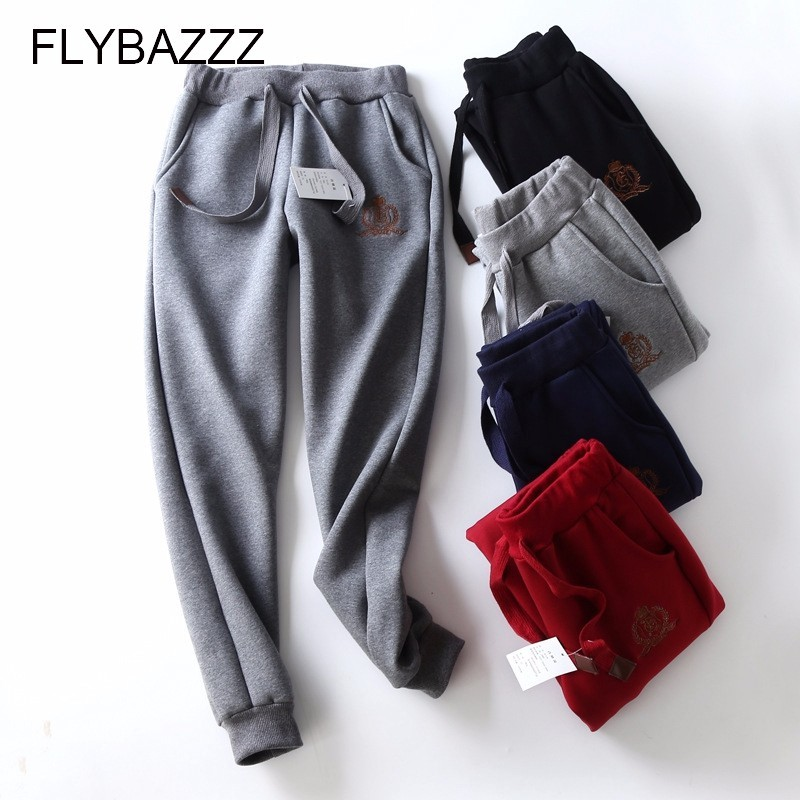 Plus Size Winter Solid Warm Harem Pants Women Super Soft Loose Thin Thick Sweatpants Ladies Running Sports Pants Femme Spodnie