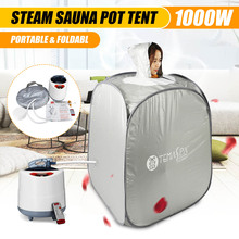 Indoor 2L 220V 60Hz 1000W Foldable Portable Steam Sauna Room Tent Loss Weight Slimming Skin Spa AU Plug For Personal Health Care