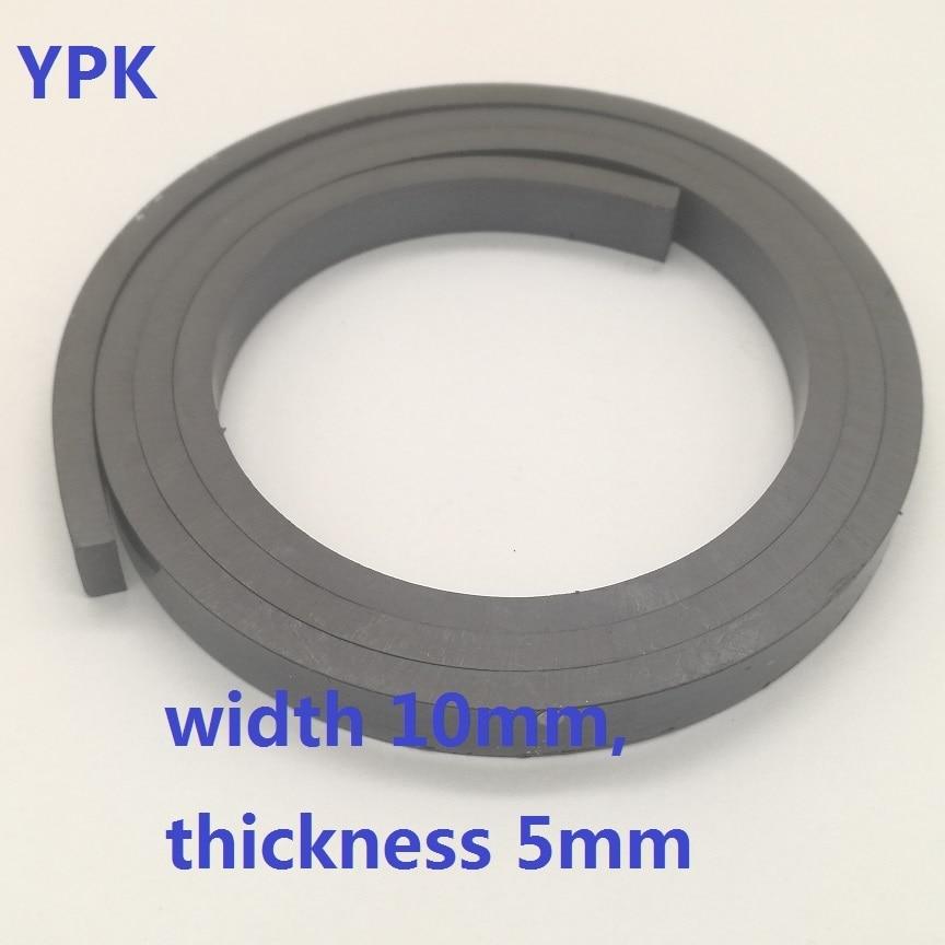 1 Meter Magneet 10*5mm Dubbelzijdige Rubber Magnetische Strip 10*5mm Rubber Magneet Strip Breedte 10mm, Dikte 5mm Weelderig In Ontwerp