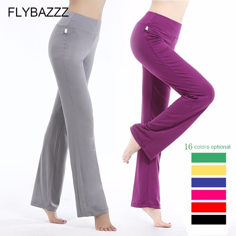 2019 New Women Yoga Pants Solid Drawstring High Waist Yoga Leggings Dancing Fitness Lady Sports Trousers Loose Sports Wear S-3XL