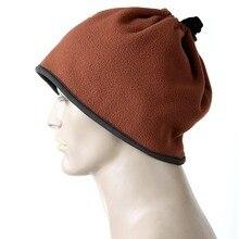 Многофункциональный Спорт на открытом воздухе теплая флисовая шапка и шарф
