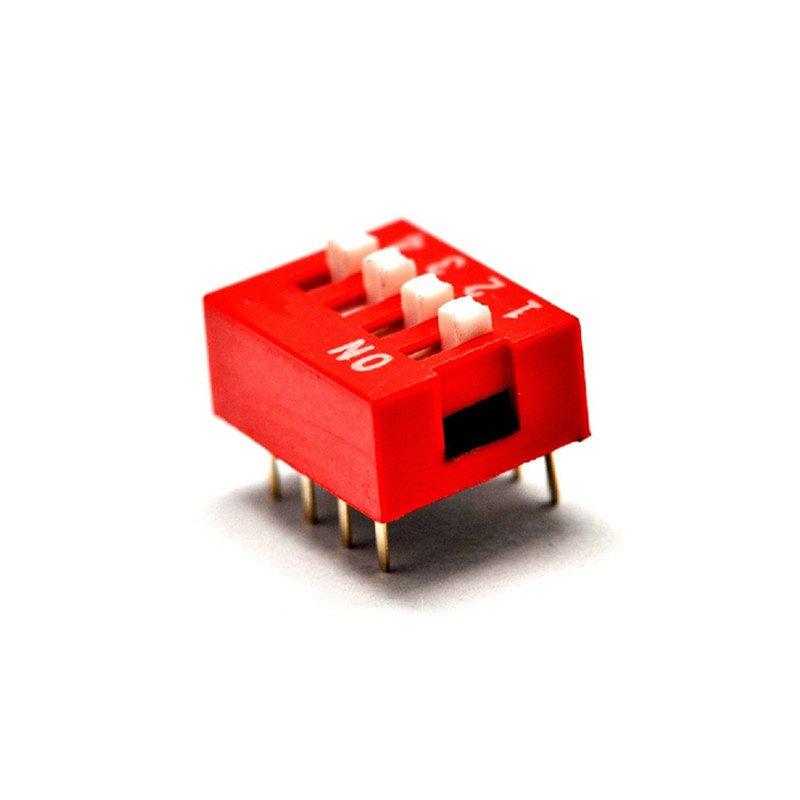 50PCS Red 2.54mm Pitch 3-Bit 3 Positions Ways Slide Type DIP Switch GOOD QUALITY