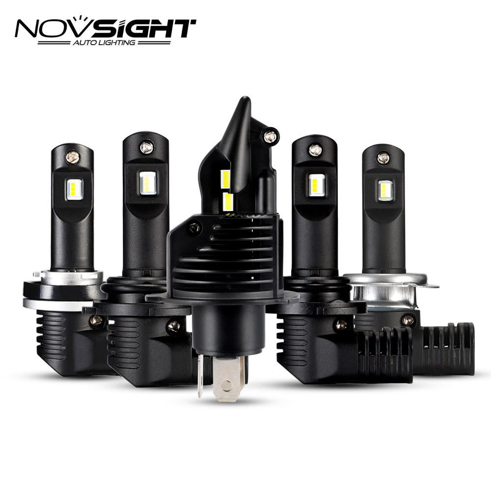 NOVSIGHT Super Bright LED H4 H7 H11 H8 Car Headlight 10000Lm 9005 HB3 9006 HB4 6500K
