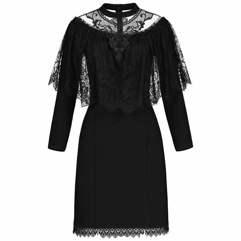 Rosetic весеннее винтажное женское платье размера плюс 3XL элегантные кружевные миди вечерние на Хэллоуин черные Harajuku трапециевидные Лоскутные Платья принцессы