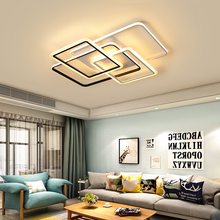 Black And White Modern Led Ceiling Chandeliers For Livingroom Chandelier Lighting Iron Acrylic Lamparas De Techo Light