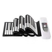 Iword S2090 Hand Roll Piano Flexible Roll Up 88 Keys Keyboard 128 Maximum Polyphony Portable Silicone Piano
