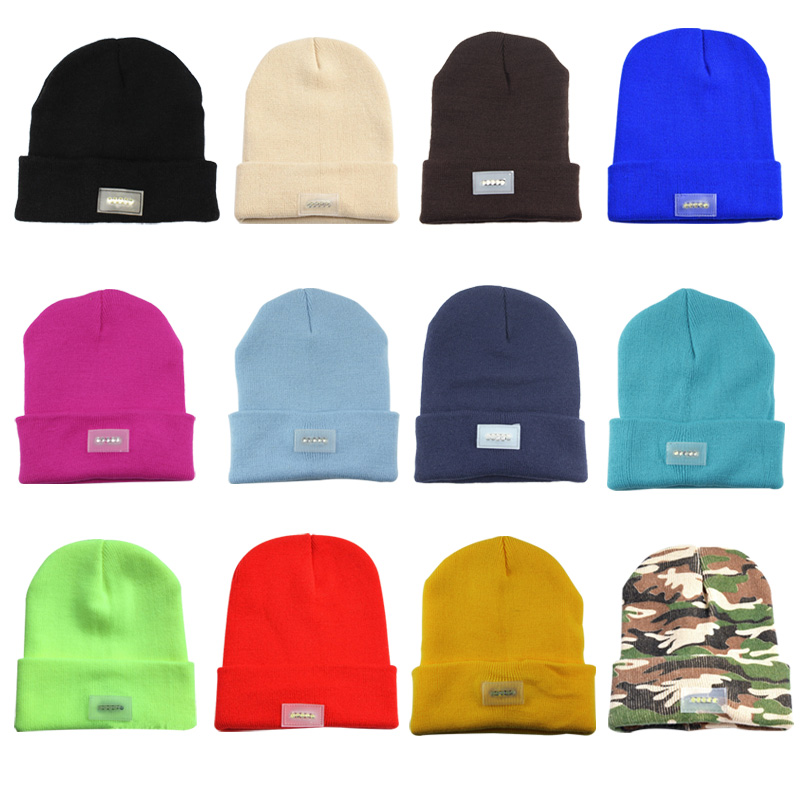8daad140471 5 LED Flashlight Hat Winter Warm Hands Free Flashlight Knitted Beanie-in  Skullies   Beanies from Apparel Accessories on Aliexpress.com