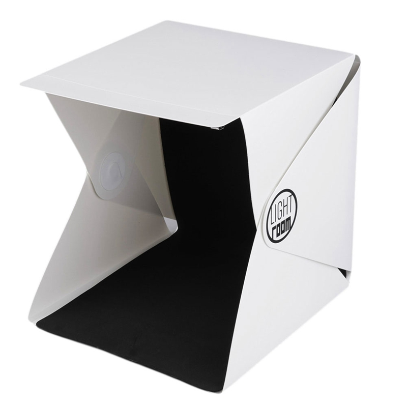Mini Folding Detachable Photo Studio Portable LED Light Room Photography Studio With 2pcs Background Fabric Newest