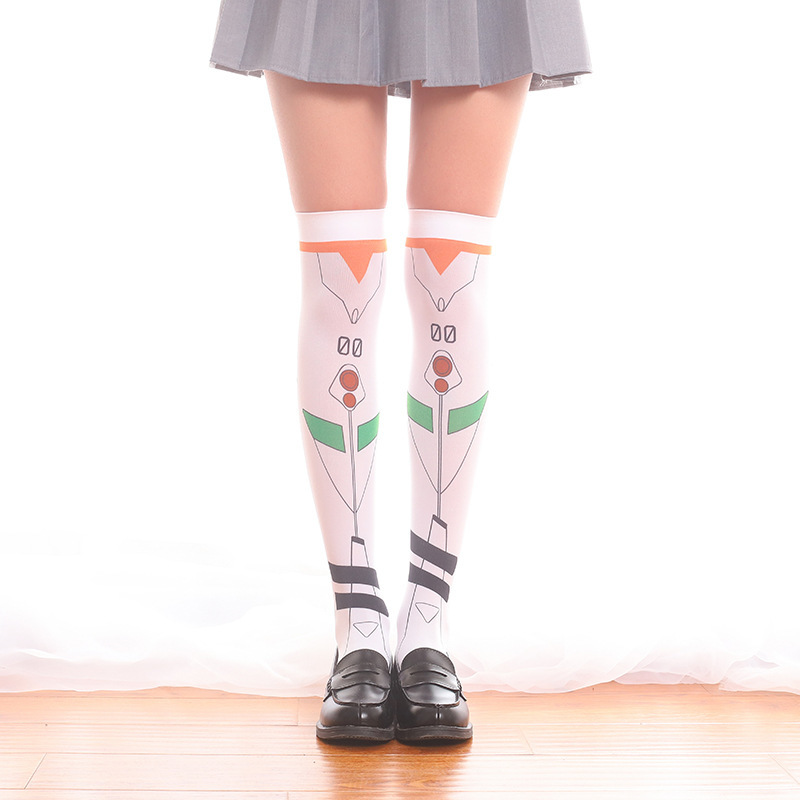 New EAV Game ayanami rei cosplay print Sweet Overknee stokings for Christmas gift