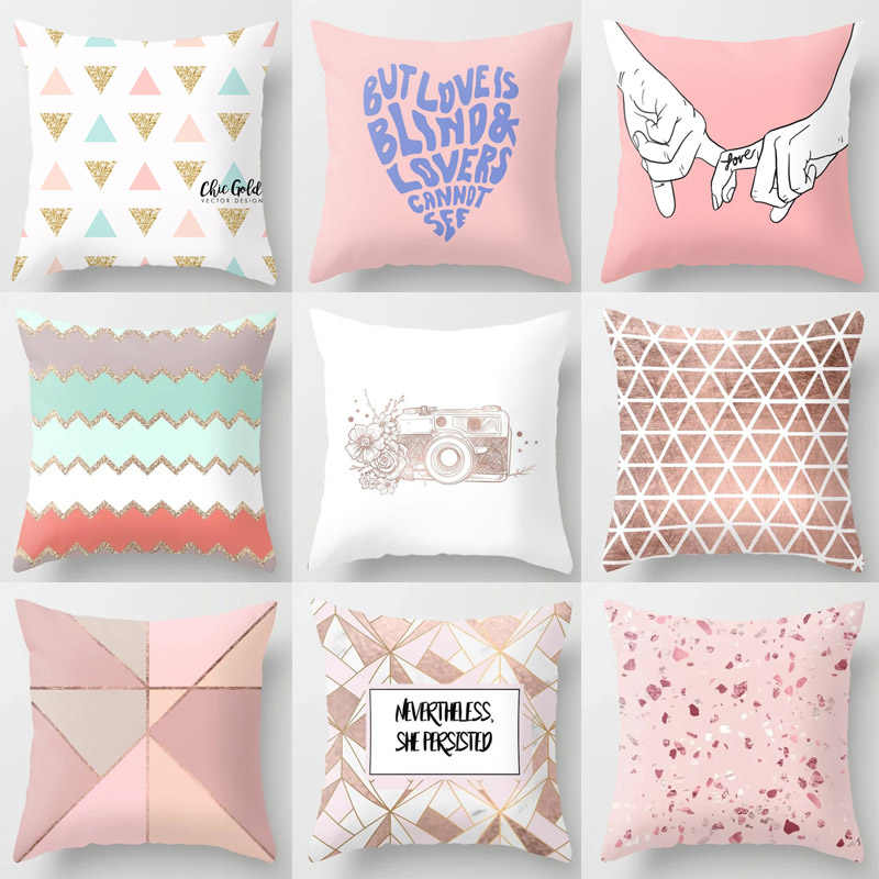 Tropic Pineapple Cushion  High Quality Nordic Sofa Popular Pillowcase  Pink Hot Sale Cushion Case Decorative Geometric 1PC