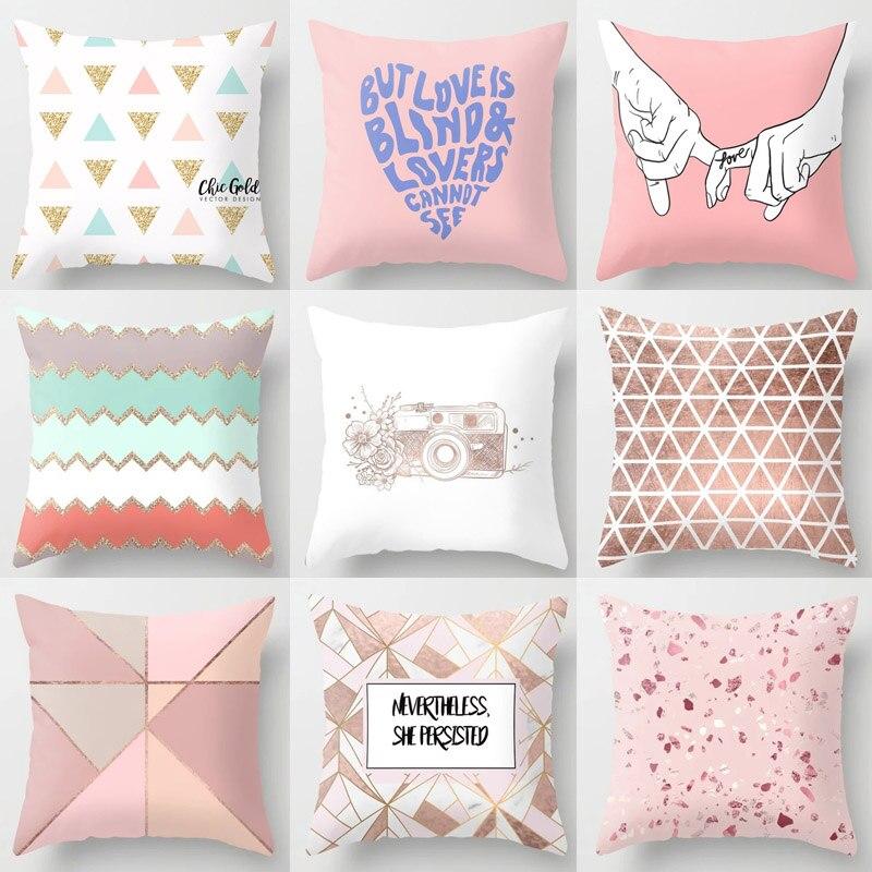 Popular Pillow Pink Tropic Pineapple Cushion Case Decorative Geometric 1PC High Quality Nordic Sofa Hot Sale