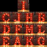 Hot Sale 12 inch Alphabet 26 Letter LED Light Atmosphere Night Light Home Bar Decoration Bedroom Wedding Birthday Party Decor