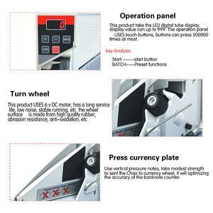 Image 5 - Vktech portátil mini contador de dinheiro acessível para a maioria das notas de moeda bill máquina de contagem de dinheiro EU V40 equipamentos financeiros plugue da ue
