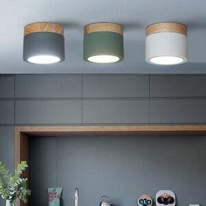 Image 5 - 220V drewno lampa sufitowa dekoracje na boże narodzenie dla oprawy oświetleniowe do domu salon pokój/korytarz lampy halogeny Nordic żelaza led typu downlight