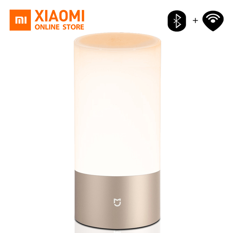 Xiaomi Mijia Mi Yeelight Bedside Lamp Table Desk Smart 16 Million Touch Control Bluetooth Wifi Led Night Light For Mi Home App