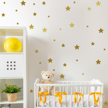 Children Room Simple Wall Decals Stickers Multi Size Star Pentagram Removeable Wall Paste Golden Gray Silver  Room Decor цены