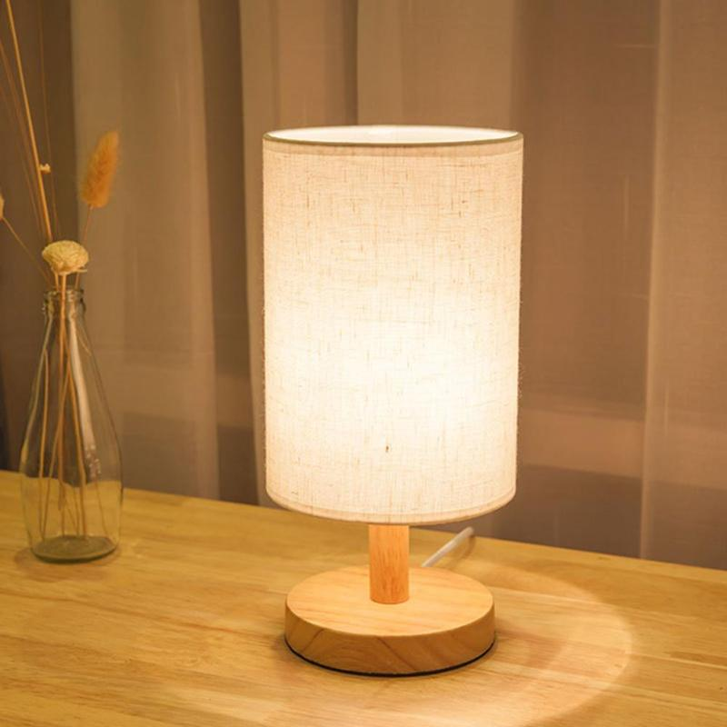 E27 moderna cortina de lámpara vintage mesa escritorio cama soporte de luz pantallas de noche decoración del hogar lámpara de escritorio