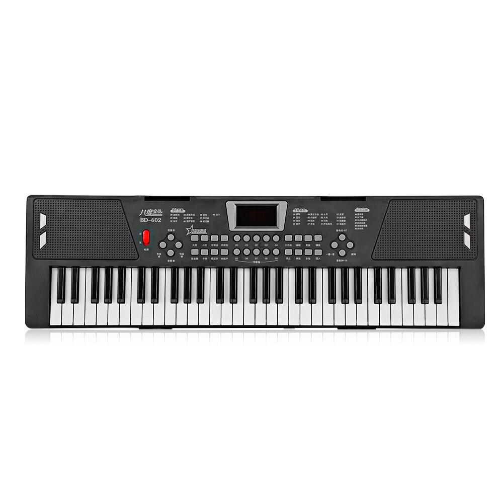 BD musique BD-602 multifonctionnel électronique Piano 16 tons 10-rythme jouet Musical 61 touches - 4