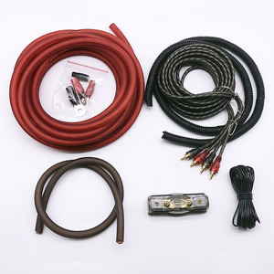 2017 чистый международный стандарт медь 4 GACar аудио провода кабель Разъем усилитель-сабвуфер Комплект проводов 0GA кабель питания 80 держатель п...