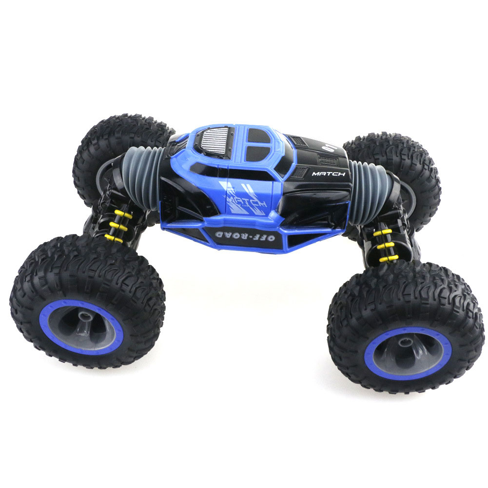 Hot ! Four Wheel Drive 4WD RC Car Climber Truck Toy Crawler Rechargeable Double Sided Stunt Off-Road Vehicle 2.4G Transform
