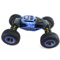 Hot ! Four Wheel Drive 4WD RC Car Climber Truck Toy Crawler Rechargeable Double Sided Stunt Off Road Vehicle 2.4G Transform