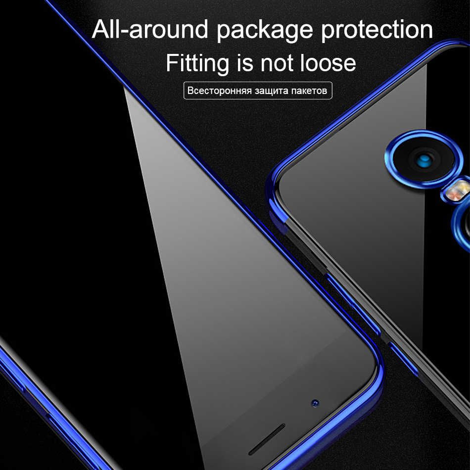 finest selection 31be7 b0692 SK Soft TPU Case For Xiaomi Redmi Note 5 Plus 4x Ultra Thin Transparent  Plating Shining Case Fundas For Xiaomi Mi 8 6 A1 A2
