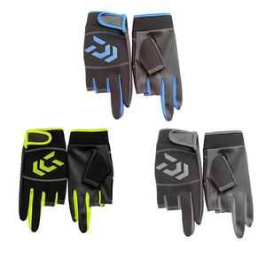 Image 2 - Outdoor Non   Slip Fishing Protection Against Stab Wounds Mens Three   Finger Fishing Gloves High   Quality Outdoor Breathable