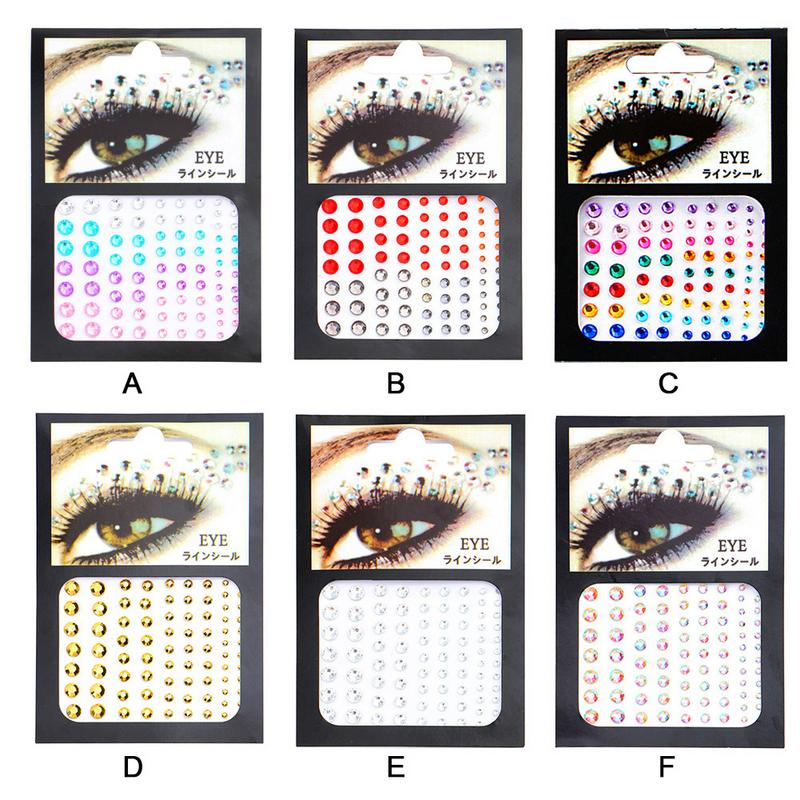 Rhinestone Sticker Tattoo Stick Drill DIY Eye Stick Drill One time Tattoo Body Painting Beauty Products Makeup Tools in Body Glitter from Beauty Health