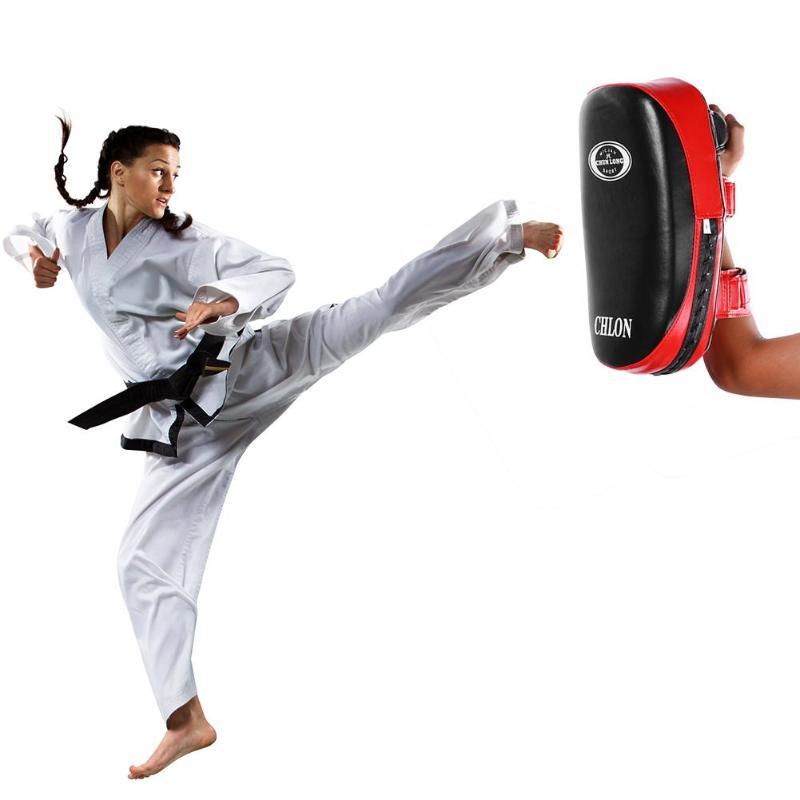 MMA Strike Shield Kickboxing Muay Thai Kick Punch Pad Training Gear Martial Arts