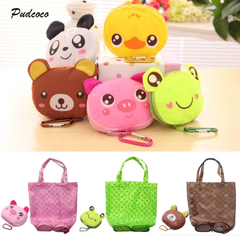 2018 Cute Animal Bear Reusable Foldable Recycle Grocery Bag Shopping Carry Bags Tote