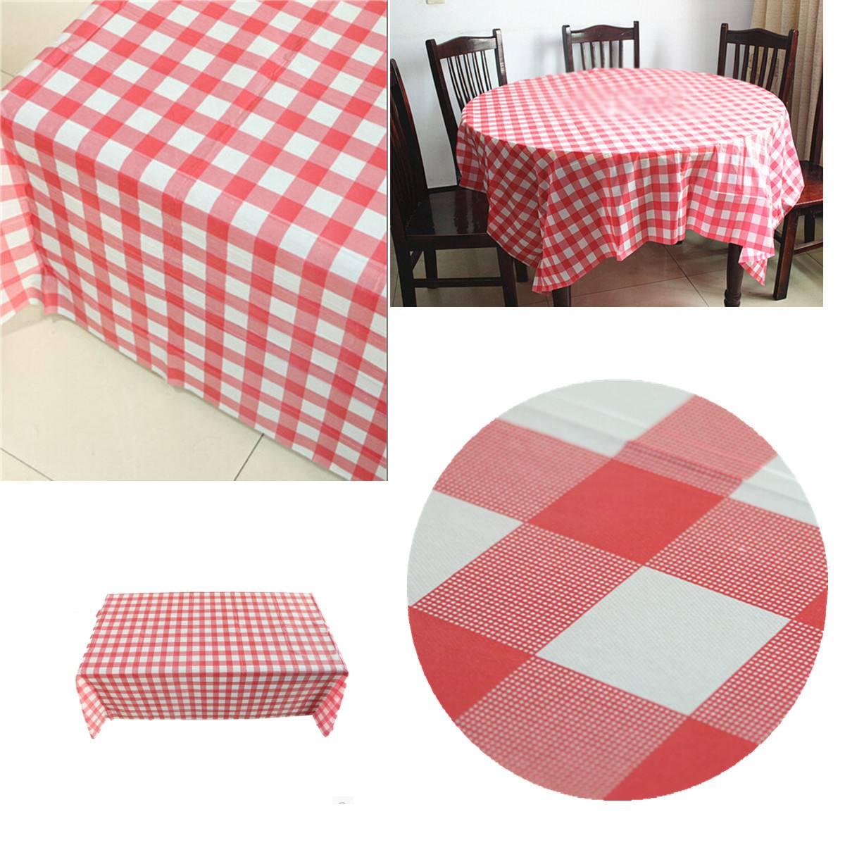160x160 Cm Rode Pastel Plastic Wegwerp Controleren Tafelkleed Tafelkleed Party Outdoor Picknick Gebruikt Voor Tafelkleden Stoelbekleding Met Een Langdurige Reputatie