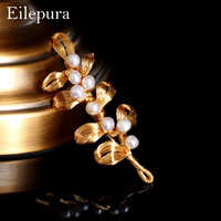 Eilepura Pearl Brooch Wedding Bouquet Brooches Pin New Design Fashion Summer Dress Jewelry T shirt Accessories Good Gift B B003