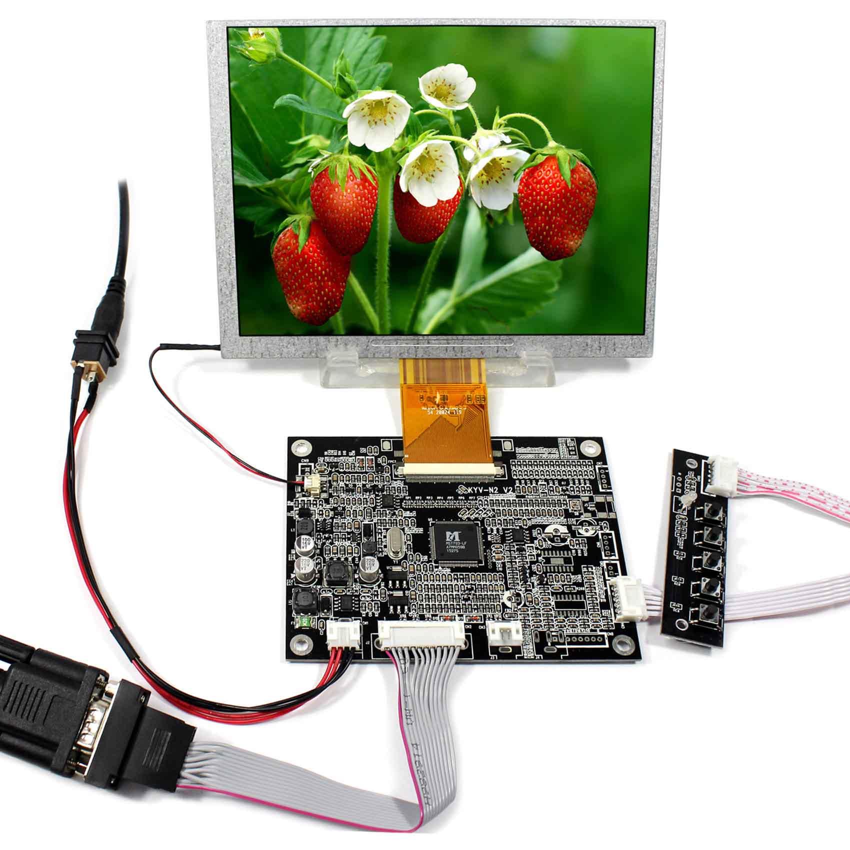 7 800x600 VGA LCD Controller Board 7inch LCD Screen KYV-N2 V2 A070SN027 800x600 VGA LCD Controller Board 7inch LCD Screen KYV-N2 V2 A070SN02