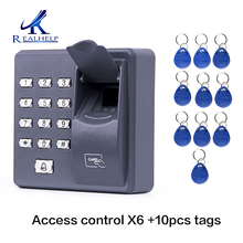 X6 Fingerprint Access Control Standalone Single Door Controller Cheapest Standalone Keypad Finger +RFID Card X6 Door Entry