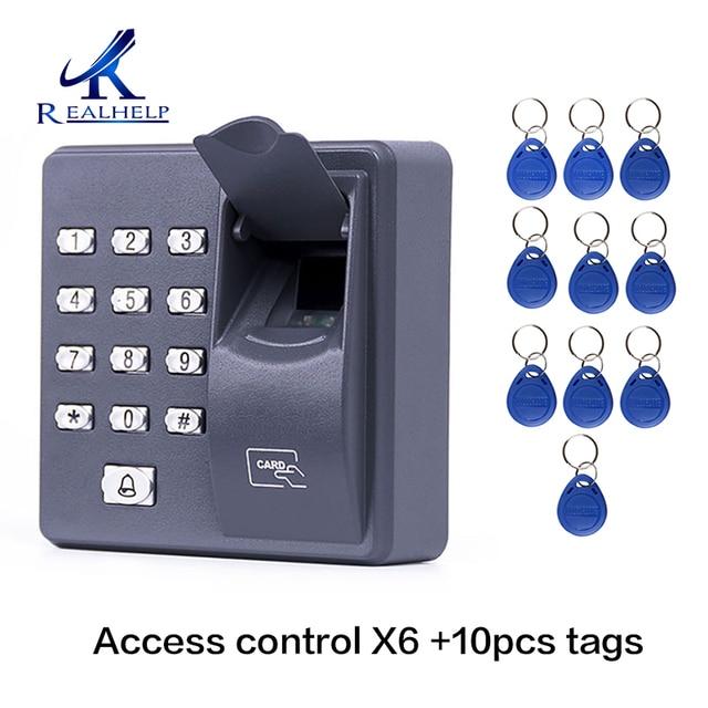 X6 Fingerprint Access Control Standalone Single Door Controller Cheapest Standalone Keypad Finger +RFID Card X6 Door Entry