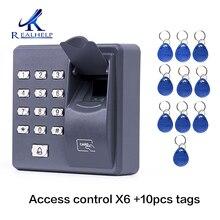 X6 contrôle daccès par empreinte digitale autonome contrôleur de porte simple moins cher clavier autonome doigt + carte RFID X6 porte entrée
