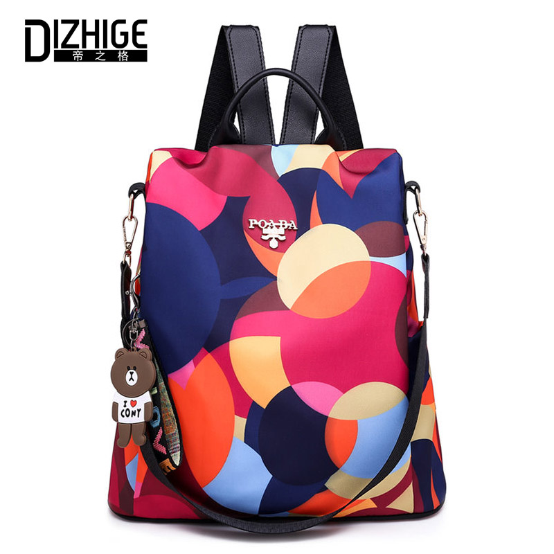 Dizhige marca oxford mochila feminina anti roubo mochila meninas bagpack mochila para adolescentes mochila casual sac a dos
