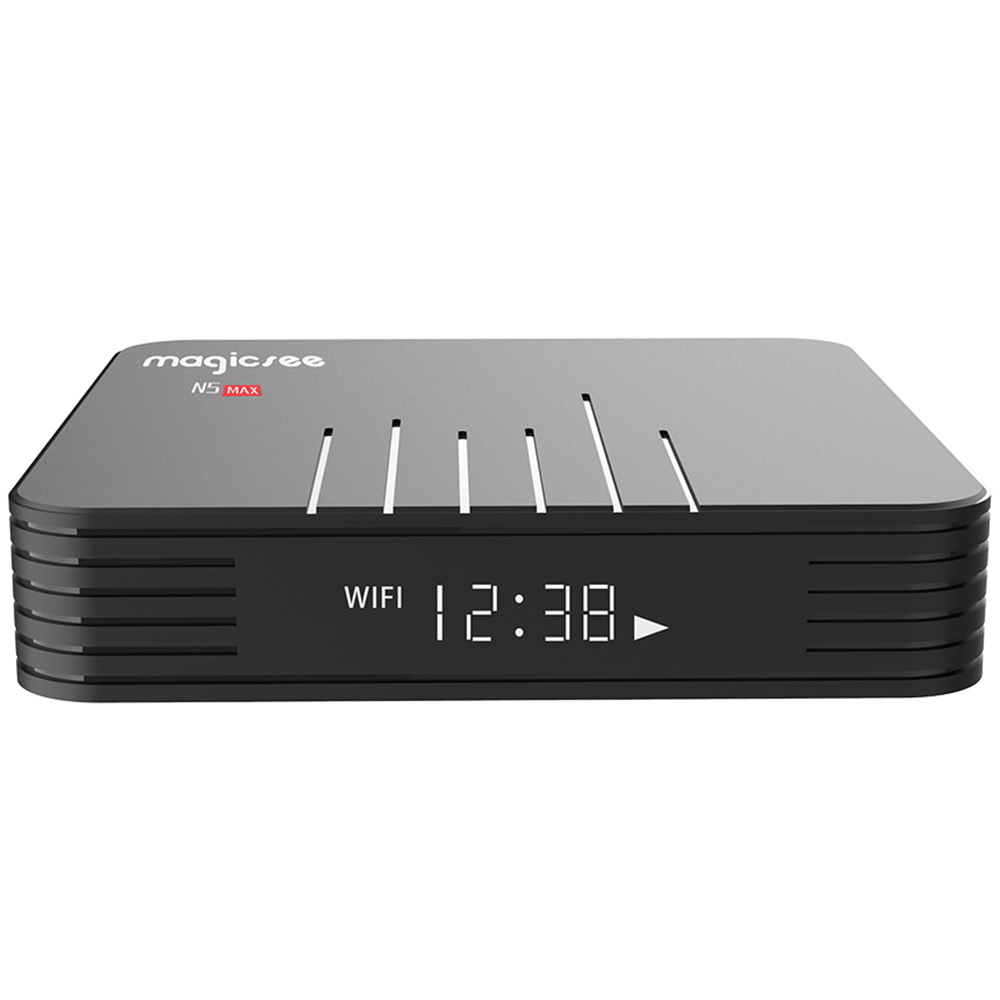 Magicsee N5 Max Android 8.1 Rom 2.4 + 5G double Wifi Tv Box Amlogic S905X2 Quad Core Smart Tv Box avec décodeur Hd 4K (prise ue) - 3