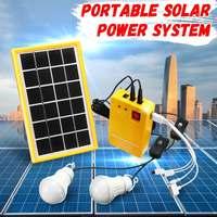 5 V Солнечный Мощность Панель комплект генератора USB Зарядное устройство дома Системы с 3 светодиодный лампы света в помещении/наружного осв...
