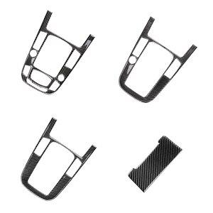 Image 2 - For Audi A4L A5 2009 2010 2011 2012 2013 2014 2015 2016 / Q5 2010   2018 Carbon Fiber Center Console Gear Shift Panel Cover