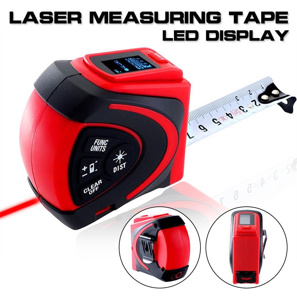 Mètre à ruban numérique Laser télémètre 30 M avec ruban à mesurer 5 M LED rétro-éclairage mètre à Distance Laser Instrument optique