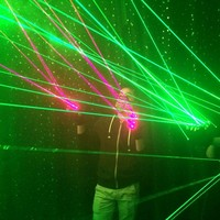 1Pcs Red Green Laser Gloves Dancing Stage Show Stage Gloves Light With 4 pcs Lasers and LED Palm Light For DJ Club/Party/Bars 1