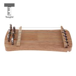 Tooyful Exquisite Solid Wood Mini 6 String Guzheng Chinese Zither Hand Trainer Gu Zheng Finger-training Exerciser